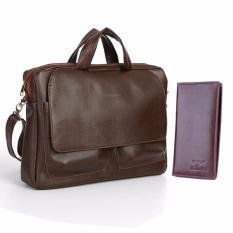 Túi xách công sở HANAMA và ví da cầm tay G8cafe- 6166N