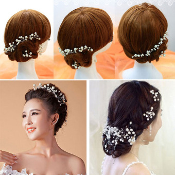 VAKIND Pearl Flower Headpiece Hair Pin - intl