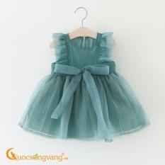 Váy đầm bé gái kiểu công chúa tay bèo GLV044-Green