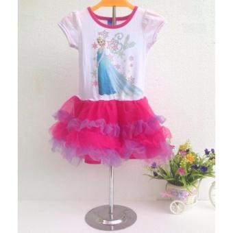 OE680FAAA65JDLVNAMZ-11335738 - Váy đầm xòe in hình công chúa Elsa