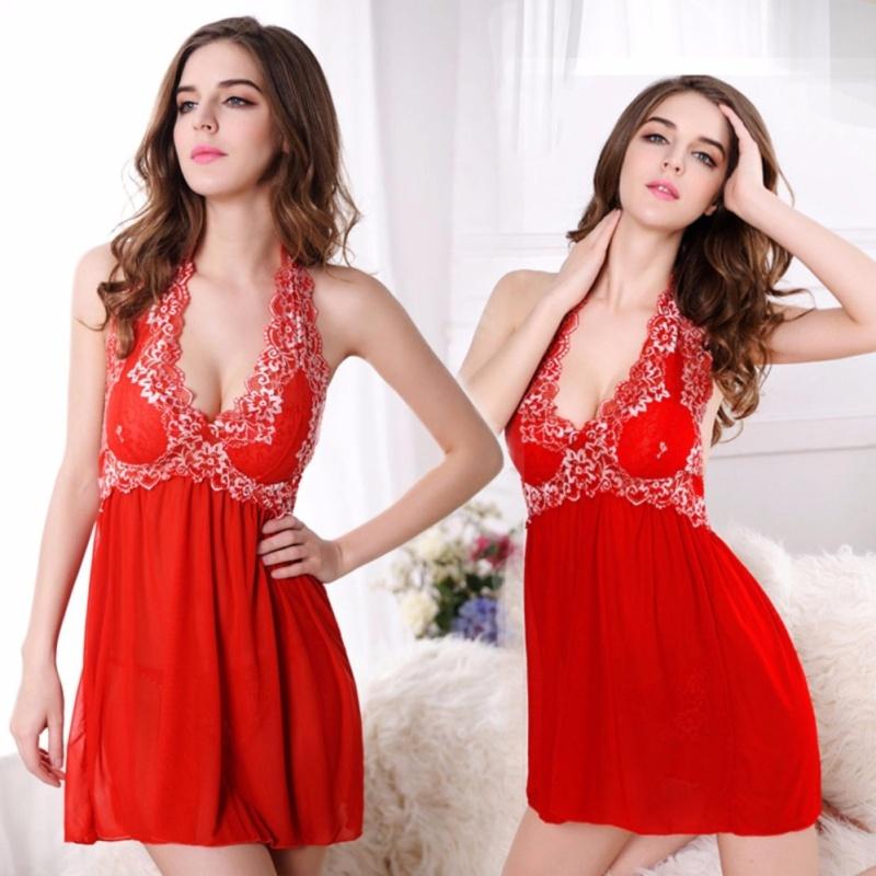 Nơi bán Váy ngủ choàng đầu thun siêu co giãn CDAN52 - Đỏ - Size XXXL - Hàng cao cấp