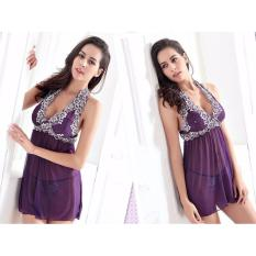 Váy ngủ choàng đầu thun siêu co giãn CDAN52 – Tím – Size XXXL – Hàng cao cấp
