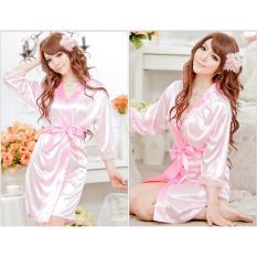 Váy ngủ nữ tay lửng kiêm áo choàng CDAN26 Kim Phát (hồng)