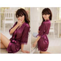 Váy ngủ nữ tay lửng kiêm áo choàng Chodeal24h (tím)