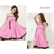 Váy ngủ thời trang DE12 (Hồng phấn)