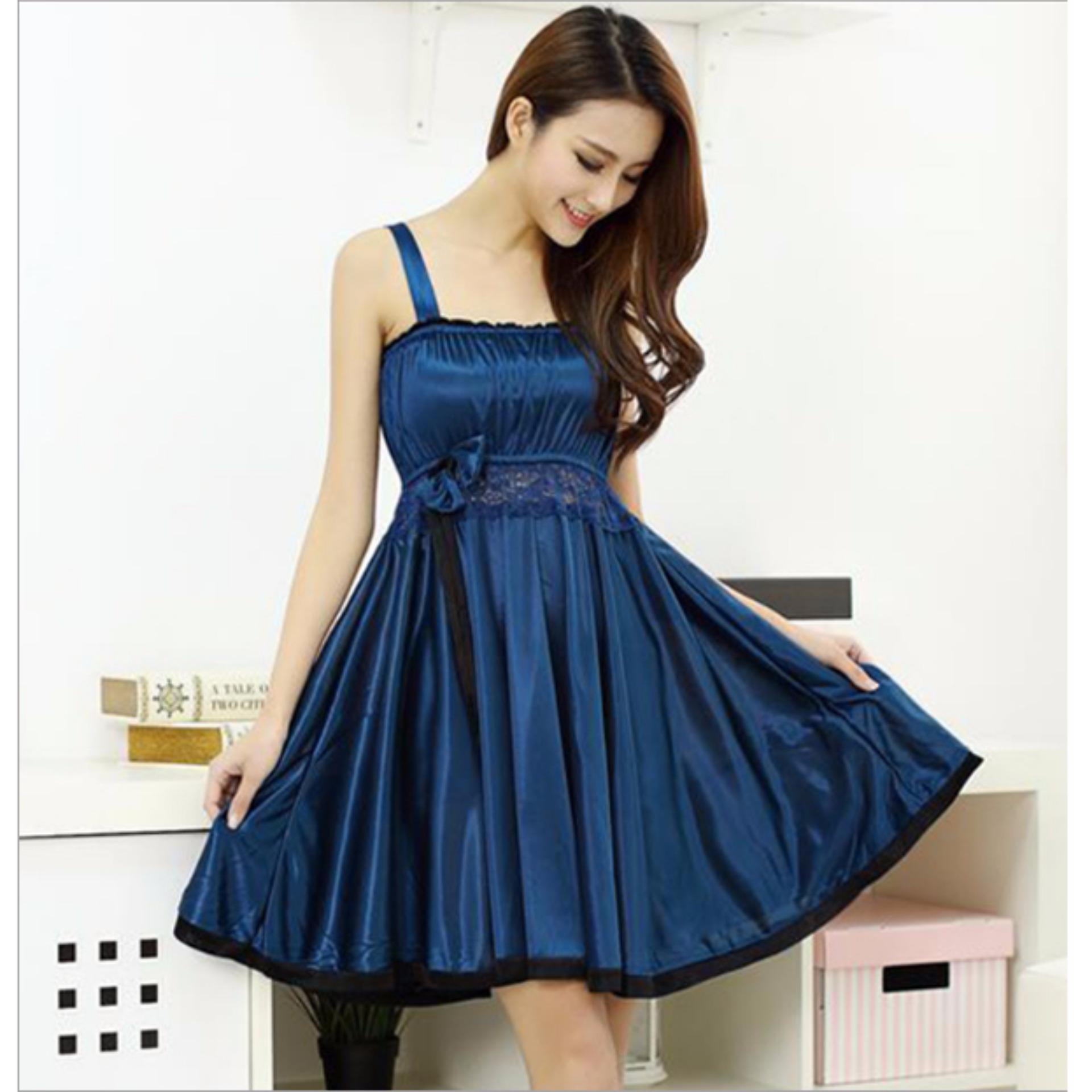 Váy ngủ thời trang DE12 (xanh)