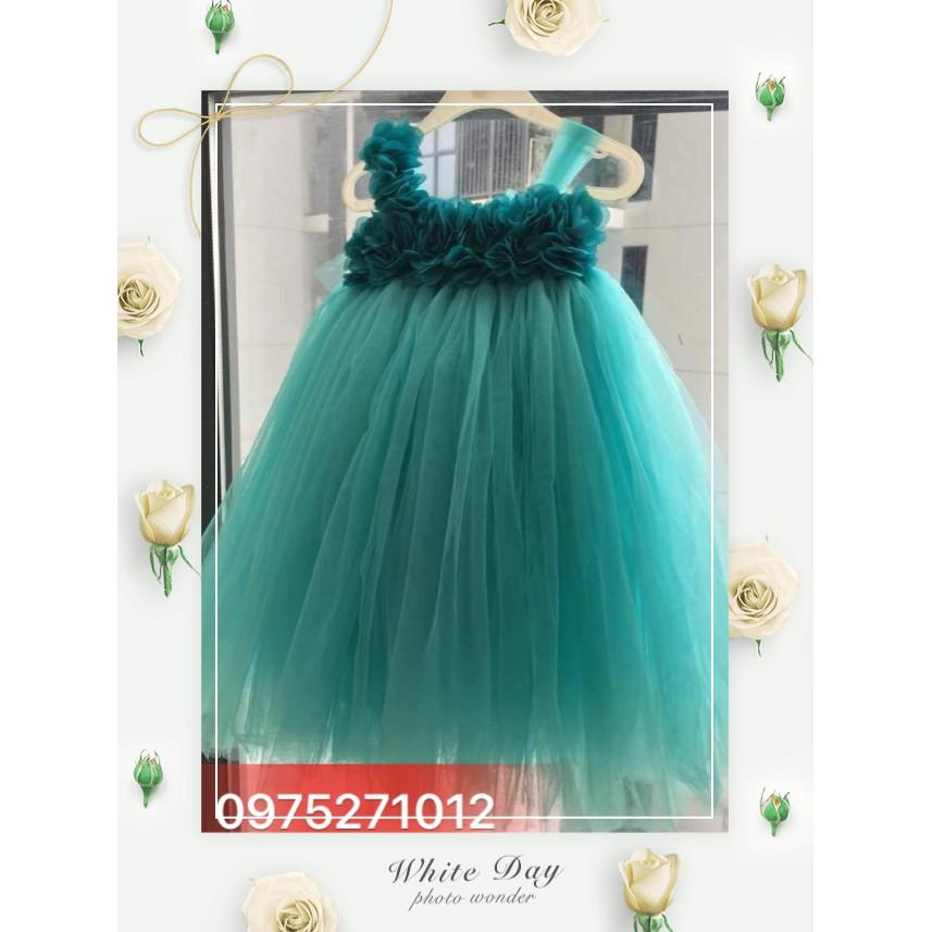 Váy Tu Tu Xanh Ngọc Hoa Dải