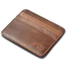 Ví đựng thẻ,giấy tờ, CMT, ATM, name card SPK211 (Nâu Sáp)