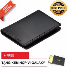 Ví Bóp Nam Nhỏ Handmade Da Bò Thật Galaxy Store GVM (Tặng Hộp Ví)