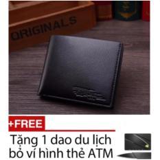 Ví Nam sành điệu TTP (Đen) + Tặng kèm dao thẻ ATM bỏ ví