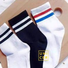 Bộ 03 đôi Vớ (tất) nữ hai sọc in phong cách Hàn Quốc UNICER (combo như hình)