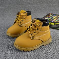 Mùa Thu đông Cho Bé Con Trẻ Em Bé Trai Bé Gái Phong Cách Quân Đội Martin Khởi Động Ren Giày Boots-Quốc Tế