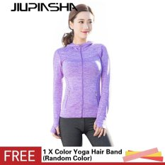 Women 's Slim Outdoors Running Fitness Comfortable Breathable Quick Dry Yoga Long Sleeve Sports Tunic Jacket – intl