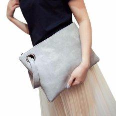 Giá Sốc Women Leather Handbag Clutch Evening Bag Simple Retro Envelope Package – intl  Happydealing