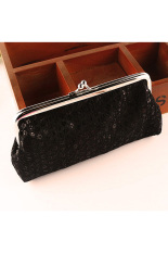 So Sánh Giá Women Lovely Style Lady Wallet Hasp Sequins Purse Clutch Bag Black – intl   BPFAIR