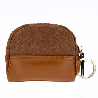 Women Nubuck PU Leather Mini Cute Card Clutch Bag(Yellow) - intl