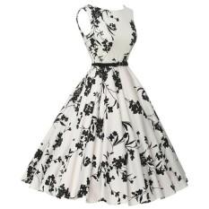 Phụ nữ Plus Size Đầm In Hoa Vintage Không Tay