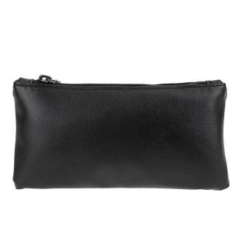 Women PU Leather Card Phone Wallet Holder Mini Clutch Bag(Black) - intl