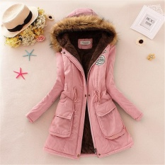 Women Winter Womens Parka Casual Outwear Military Hooded Coat Winter Jacket Fur Coats Woman Clothes manteau femme Plus Size Pink – intl