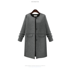 Nữ 2017 mới mùa thu và mùa đông và gió XL Nữ MM mỡ mỏng áo khoác len-quốc tế