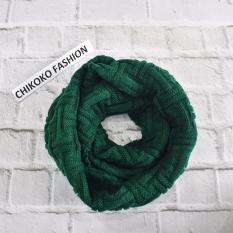 Xả hàng khăn len ống Hàn quốc vặn thừng (xanh cồ vịt)