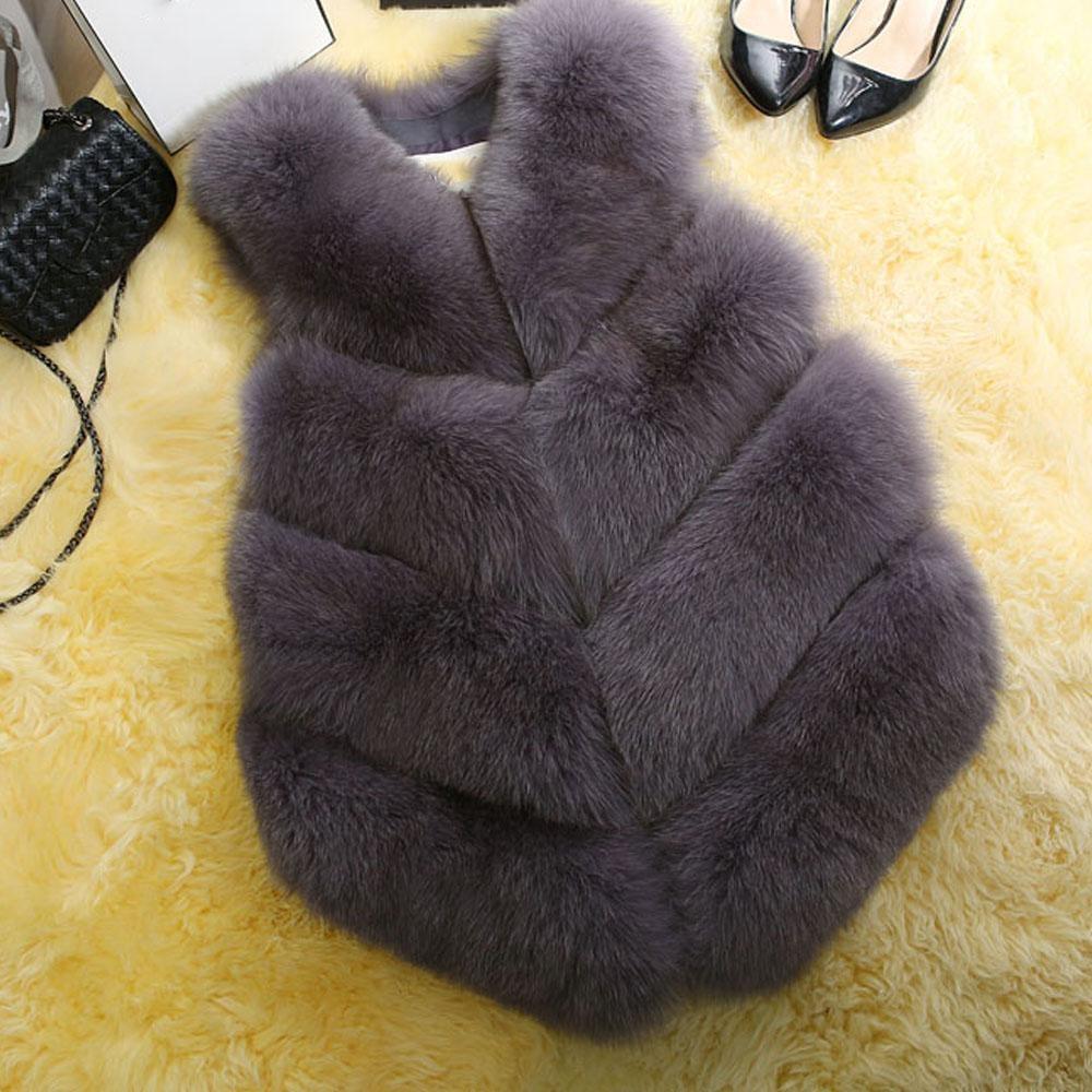 Báo Giá Zaful Elegant Faux Fur Coat Women Fluffy Warm Sleeveless Female Outerwear Chic Autumn Winter Coat Jacket Hairy Fashion Woman Waistcoat – intl