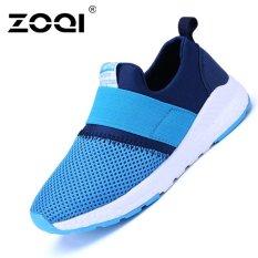 ZOQI Bé Trai Và bé gái Thời Trang Giày Sneaker Thoáng Khí Giày Thể Thao (Xanh Dương)-quốc tế