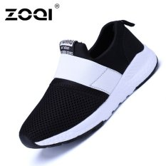 ZOQI Bé Trai Và bé gái Thời Trang Giày Sneaker Thoáng Khí Thể Thao (Trắng và Đen)-quốc tế