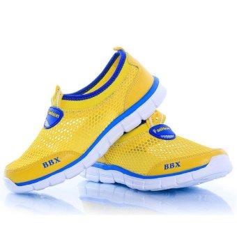 ZOQI Children's Mesh Shoes Light Running Shoes(Yellow) - intl