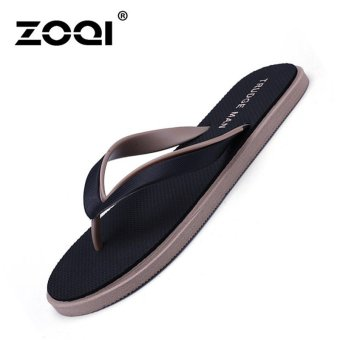 ZOQI Men's Fashion Beach Sandals Flip Flops(Black) - Int'l - intl