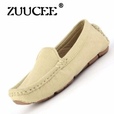 ZUUCEE 2016 Boy's And Girl's Fashion Sewing Shoes Flat Shoes (Apricot)【Free Shipping】
