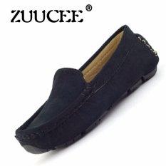 ZUUCEE 2016 Bé Trai Và bé gái Thời Trang May Giày Phẳng (Màu Đen)-quốc tế