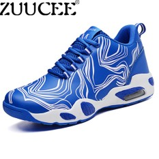 ZUUCEE Casual Basketball Shoes Men Sneakers Air Cushion Shoes (blue)【Free Shipping】