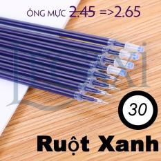 Combo 30 – 100 Ruột Bút Mực Gel Tiện Lợi Tím Xanh Đỏ Đen ngòi mực 0.5mm, giúp viết chữ đậm, đẹp, mực ra dễ và đều hơn, ruột dài 13cm
