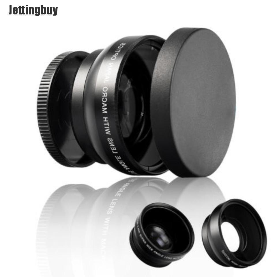 Ống Kính Macro Góc Siêu Rộng 52Mm HD 0,45x Kỹ Thuật Số Dành Cho Canon Nikon Sony Pentax