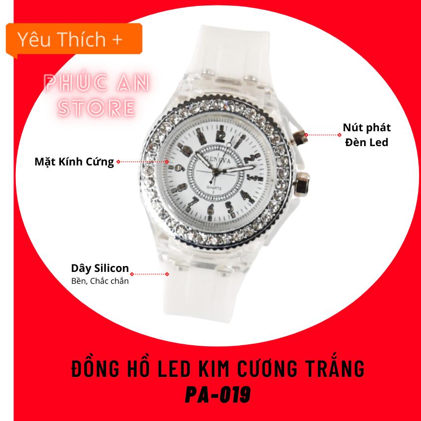 Đồng hồ Cặp đôi UNISEX – Đồng hồ Dây Cao Su LED Kim Cương Phát Sáng 7 màu Thời Trang Phong Cách – cho Cặp đôi Sành Điệu