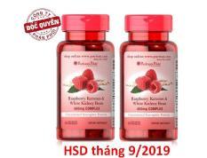 Bộ 2 Viên uống hỗ trợ giảm cân Puritan's Pride Raspberry Ketones & White Kidney Bean 600mg Complex 60 viên
