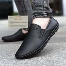 Giày nam boss da bò đen cực đẹp thời trang , giày nam giá rẻ phong cách năng động