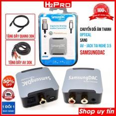 Bộ chuyển đổi âm thanh optical ra AV SAMSUNGDAC AQ5601Q, bộ chuyển đổi âm thanh quang học chất lượng cao ( tặng dây quang và dây av giá 60K )