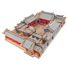 Đồ chơi lắp ghép 3D gỗ – mô hình Tứ Hợp Viện – 179 mảnh ghép- cắt lazer
