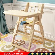 Ghế ăn dặm cho bé bằng gỗ A224, thiết kế thông minh có thể gấp gọn, điều chỉnh được 6 mức độ chiều cao, có dây đai 3 điểm, giúp bé có những bữa ăn ngon miệng và thoải mái – Laca shop