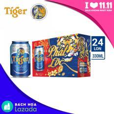 Thùng bia 24 lon Tiger 330ml bao bì Tết