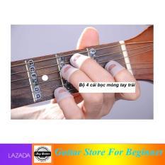 Bộ 4 cái bao đầu ngón tay trái chống đau tay màu trắng – 4 cái bọc ngón tay trái bảo vệ ngón – Duy Guitar Shop