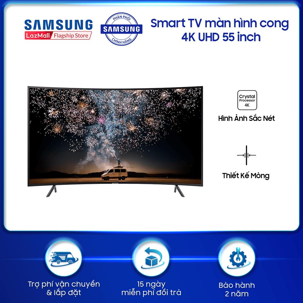 Smart TV Samsung màn hình cong 4K UHD 55 inch RU7300, giải trí đỉnh cao, độ phân giải sắc nét, tiện ích kết nối thông minh.