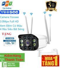 Camera wifi chuẩn 3.0 dùng ngoài trời – trong nhà mpx full hd 1080p – hỗ trợ 4 đèn hồng ngoại và 4 đèn led + tặng thẻ xịn 128 yoosee cho mã 520k và không thẻ với mã 420k