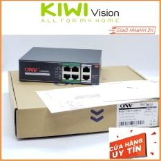 Đầu chia mạng POE 4 kênh Switch POE cổng chuyên dụng lắp camera IP POE siêu bền, 4 cổng POE, 2 Công UP Link