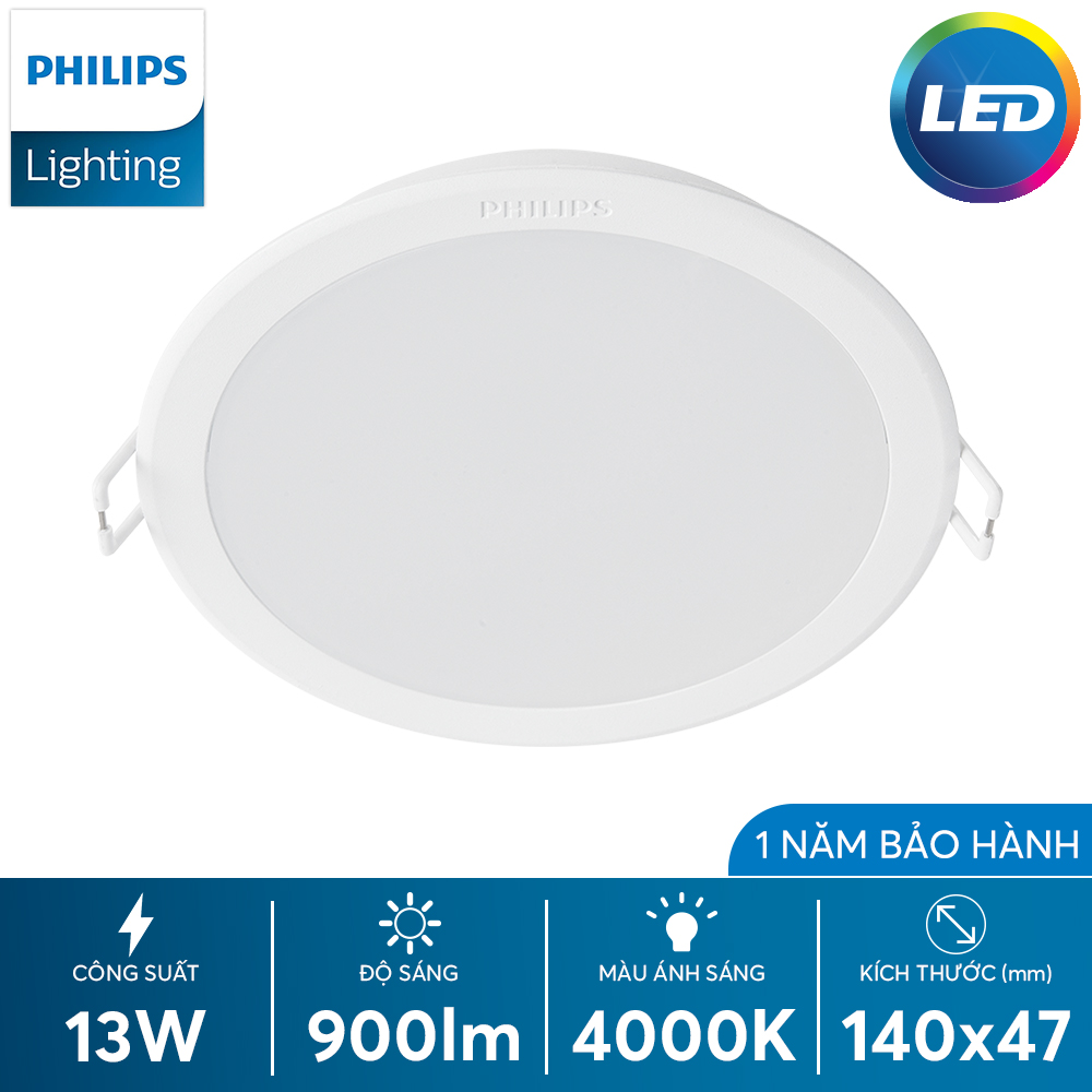 Bộ đèn downlight Philips LED 59464 MESON 125 13W WH recessed LED