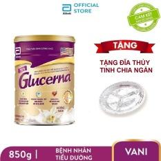 [GIẢM 40K ĐƠN 1.2TR]Lon sữa bột Glucerna 850g hương Vani dành cho bệnh nhân tiểu đường Tặng Đĩa chia ngăn