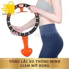 Vòng lắc eo thông minh giảm mỡ bụng automatic hula hoop, có đồng hồ đo giúp bạn biết được số calo giảm được