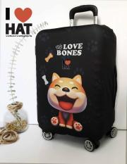 Vỏ bọc vali, áo bọc vali, túi bọc vali Cún yêu size S-M-L